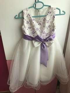 Girl's White Dress Bridesmaid Flower Girl