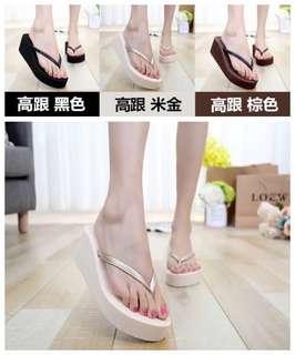 ✨厚底防滑細帶高跟夾腳鞋    🎊促銷價:190/雙