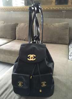 CHANEL Backpack Canvass