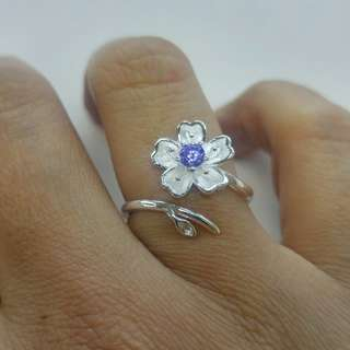 Sakura cherry blossom flower ring