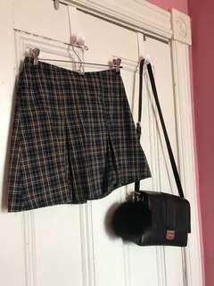 plaid skirt ~ brandy melville