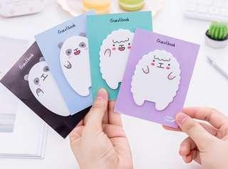 Cute Bear & Sheep Post It Notes Memo Pad Set