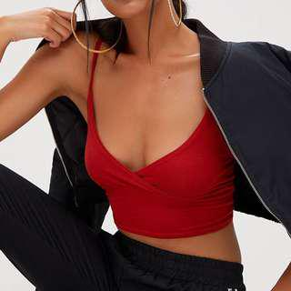 Red Crop/Bralette