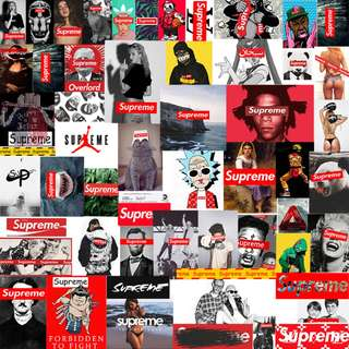 Supreme Collection Sticker 57pcs/set Pre-order