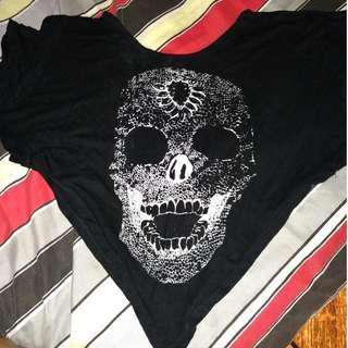 Skull Crop top (Black)