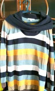Sweater motif garis2