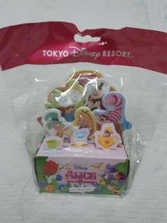 日本迪士尼 alice in the Wonderland 愛麗絲夢遊仙境人手立體memo紙5款