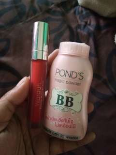 Take all pond's bb magic powder dan cream mate wardah