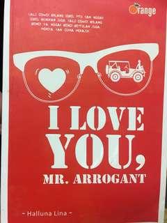 Novel i love you Mr. Arrogant