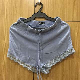 Chicabooti Powder Blue Lace Shorts