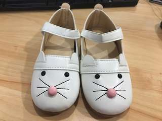 Brand new white bunny shoe