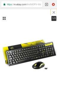 MOFII Wireless Keyboard and Mouse Combo 2.4G Full-size Keyboard for PC and Mac