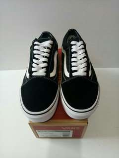 VANS OLD SKOOL CANVAS BLACK WHITE QUALITY PERFECT KICK
