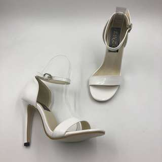 SHAYE WHITE HEELS (5 inches)