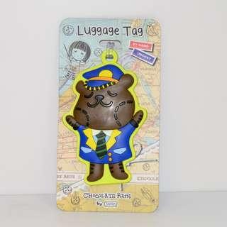Chocolate Rain Luggage Tag (Toffee Bear)