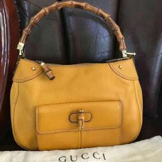 👉MURAH - GUCCI Bamboo Yellow Leather #tv