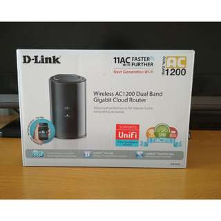 D-LINK AC 1200 Dual bank GIGABIT cloud router