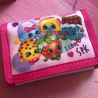 Shopkins 2 fold wallets