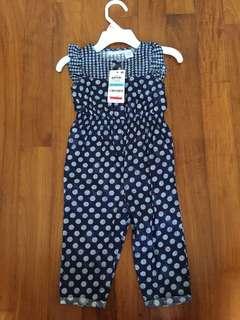 New Designer toddler girl romper /pantsuit