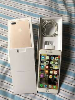 Iphone 7+ 256GB Gold in immaculate conditio