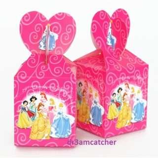set of 6 pieces Disney Princess gift boxes