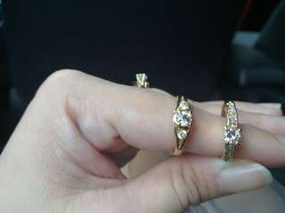 Engagement Type Rings in 14k and 18k yellow gold