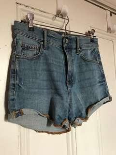 jean high-waisted shorts ~ garage