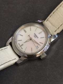 TISSOT 天梭白色復古簡約女裝手錶