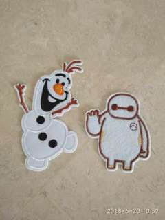 Sew on patch - Olaf and Baymax