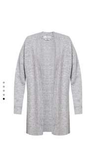 Mango Chunky Knit Wool Blend Cardigan