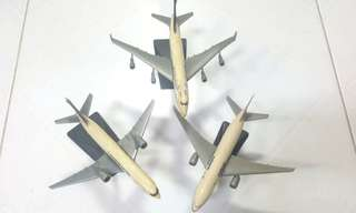 3 x Small Aeroplane Display