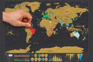 World Scratch Map Deluxe Edition