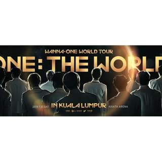 [WTB] WANNA ONE WORLD TOUR IN KL CAT4