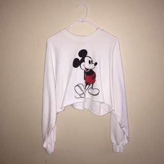 Mickey Mouse cropped hoodie