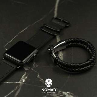 🚚 Apple Watch Leather Zulu Strap in Black
