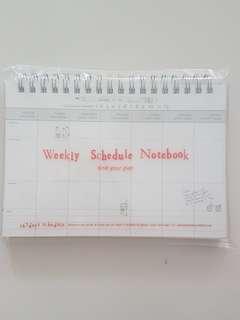 BNIB Weekly Scheduler  Notebook