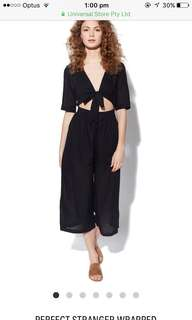 Universal Store- Perfect Stranger- Wrapped Black Jumpsuit