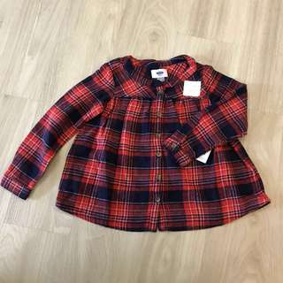 Bnwt Checkered old navy Long sleeve top