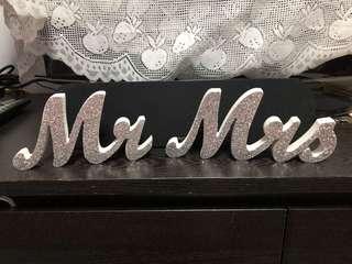 Mr & Mrs Table Display