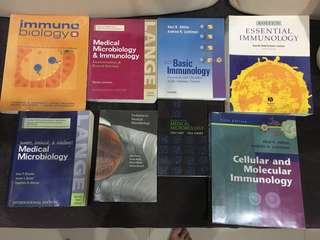 Medical school textbooks. Microbiology, Immunology, Antimicrobials.