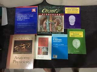 Medical textbooks. Anatomy and histology books.