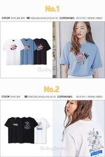 韓國Ambler刺繡款T恤👚👕