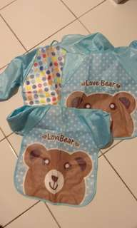 Long Sleeve Baby Bibs Waterproof