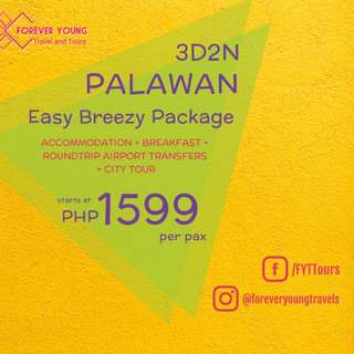 3D2N PUERTO PRINCESA EASY BREEZY TOUR PACKAGE