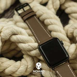 🚚 Apple Watch Leather Strap - Single Tour in Brown
