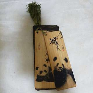 Panda Bamboo Bookmarks