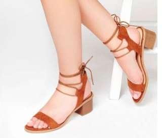 🚚 羅馬綁帶繞踝鞋