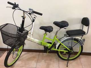 Adult Bicycle With 2 Child's Seat