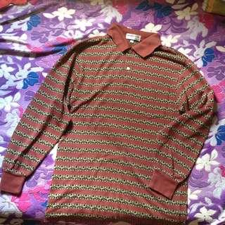 Vintage longsleeve polo shirt