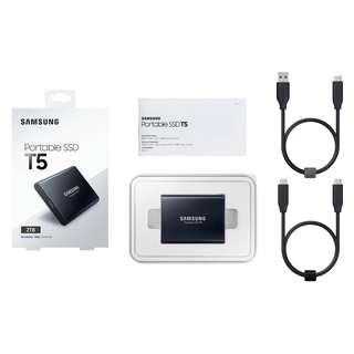 🚚 Samsung Portable SSD T5 2TB (MU-PA2T0B/WW)